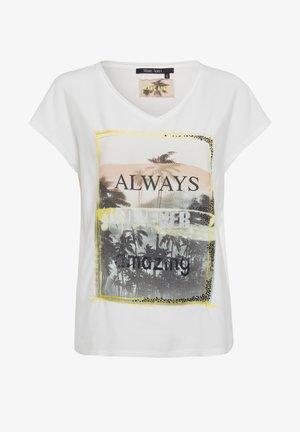 Print T-shirt - off white varied