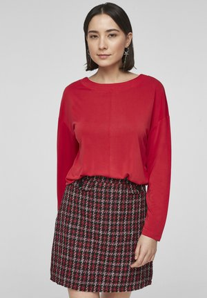 DROPPED SHOULDER - Long sleeved top - red