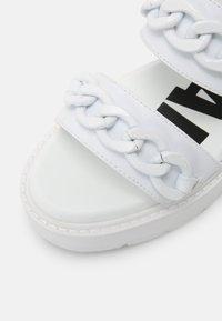 Buffalo - VEGAN ROCKET - Platform sandals - white - 7