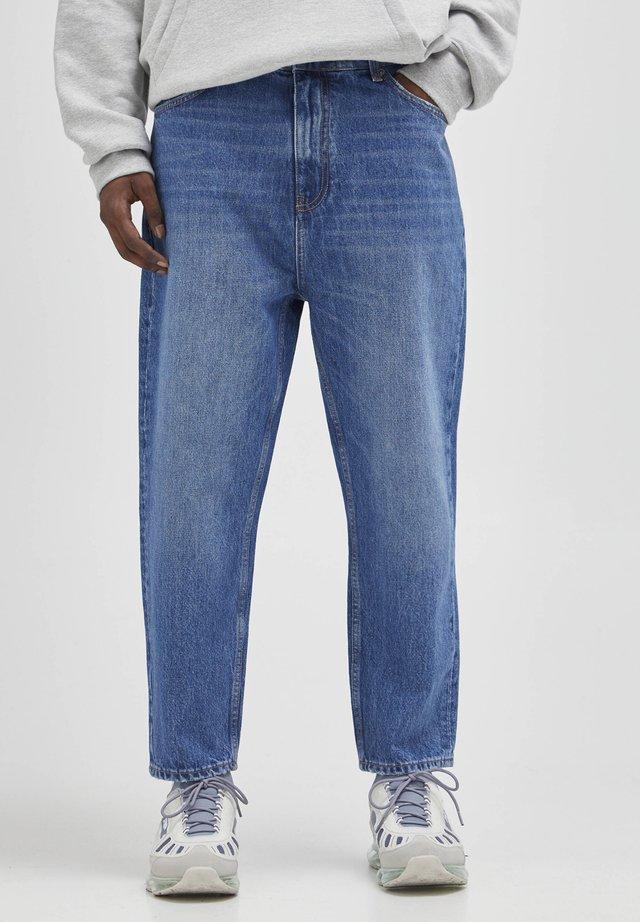 Jeans baggy - mottled blue
