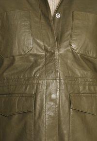 Soft Rebels - SRMATHILDA JACKET - Leather jacket - dark olive - 7