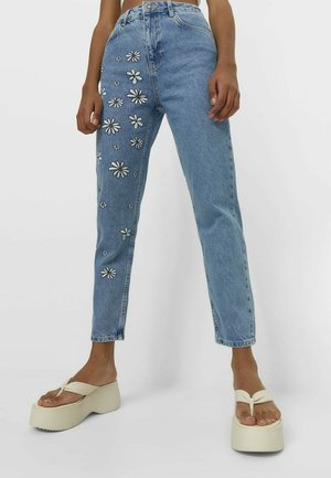 MIT MARGERITEN - Jeansy Slim Fit - light blue