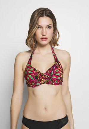 HEATWAVE HALTER UNDERWIRED - Bikinitop - black