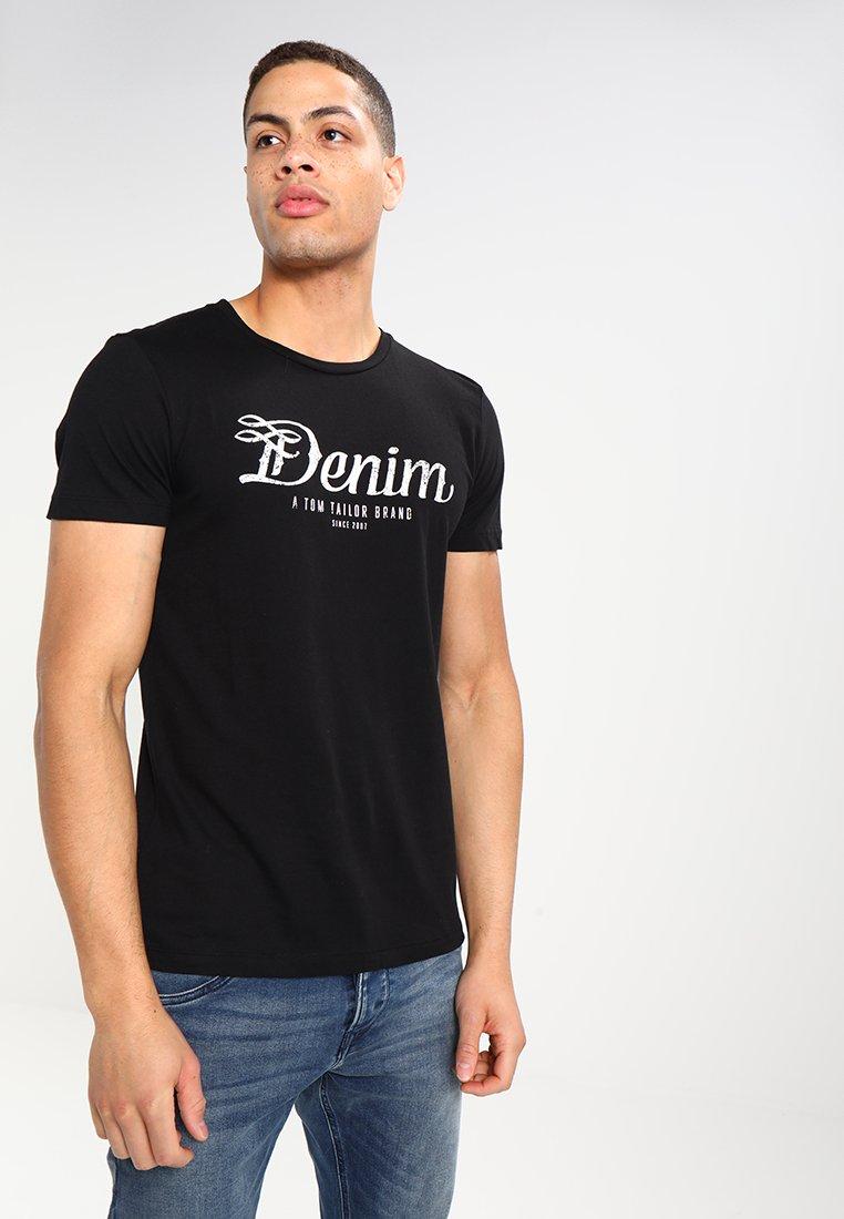 TOM TAILOR DENIM - CREWNECK TEE - T-shirt con stampa - black