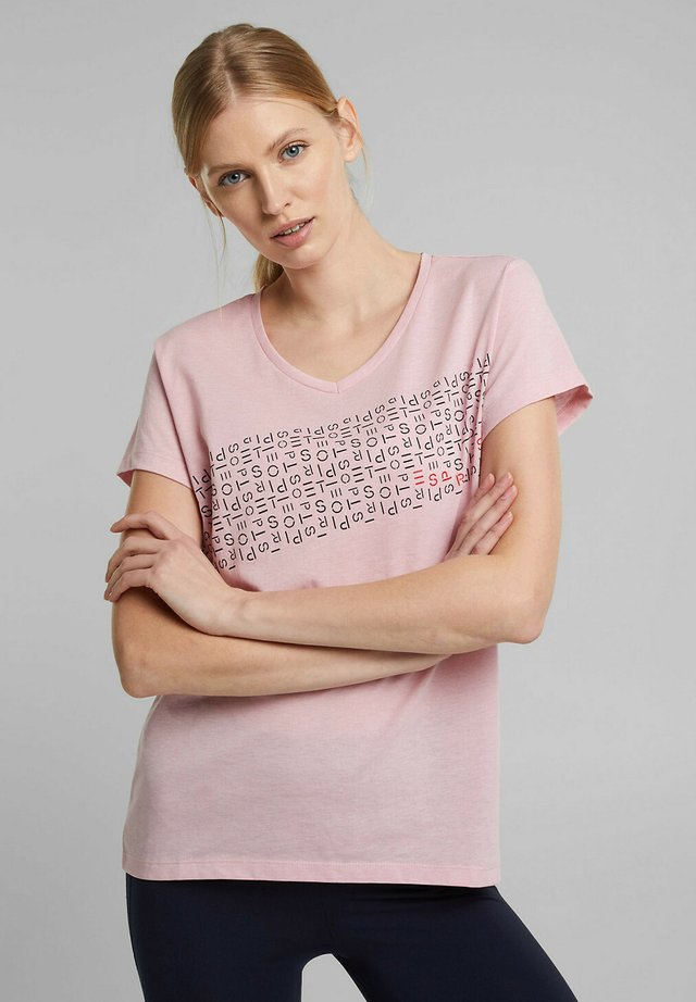 Print T-shirt - light pink