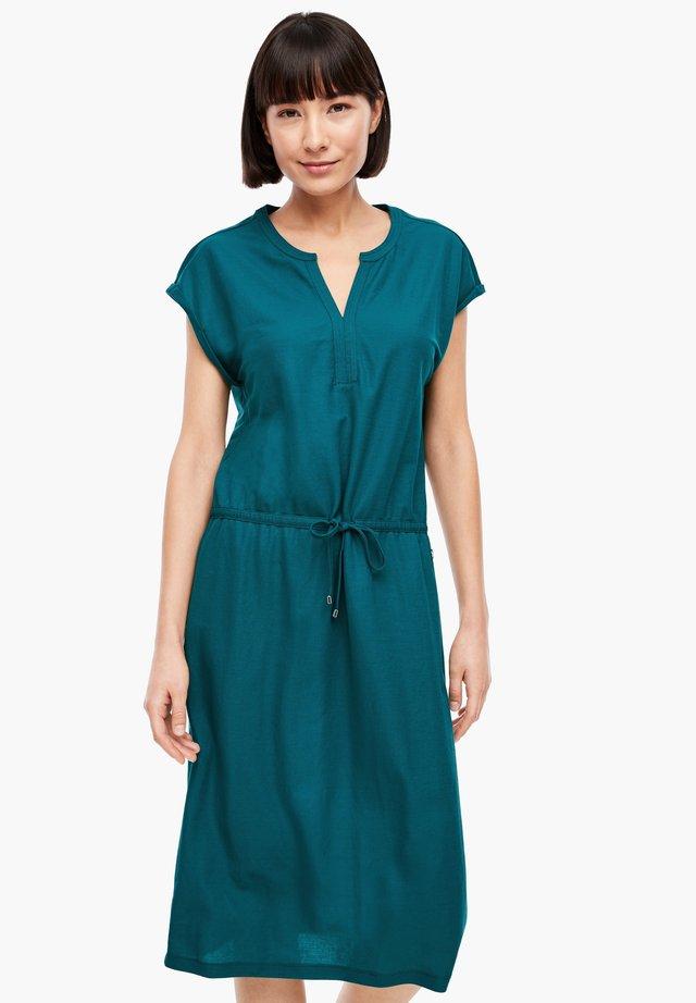 MIT TUNNELZUG-BUND - Korte jurk - petrol