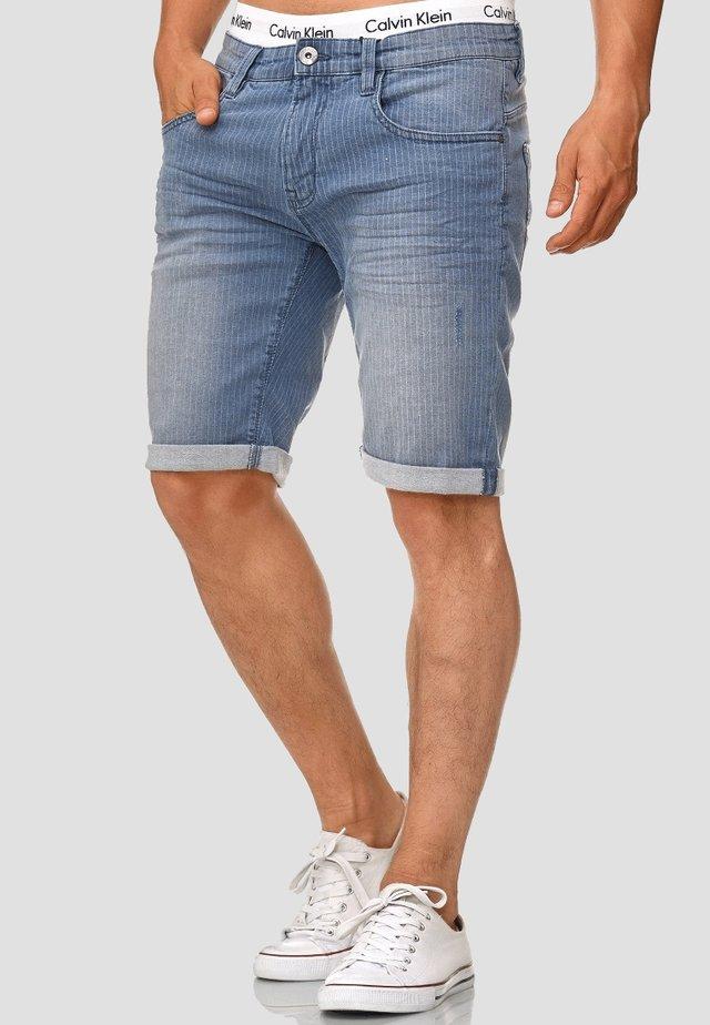 CUBA CADEN - Shorts di jeans - light indigo
