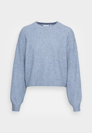 AGGIE SWEATER - Stickad tröja - blue