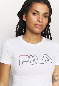Fila - LADAN TEE - Print T-shirt - bright white - 4