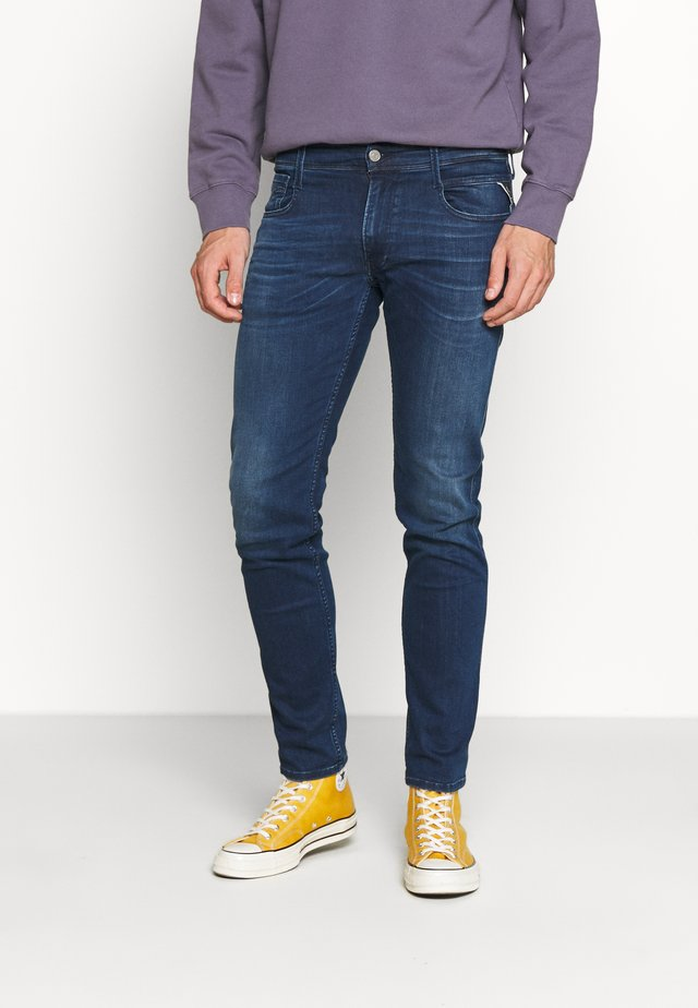 ANBASS - Vaqueros slim fit - medium blue
