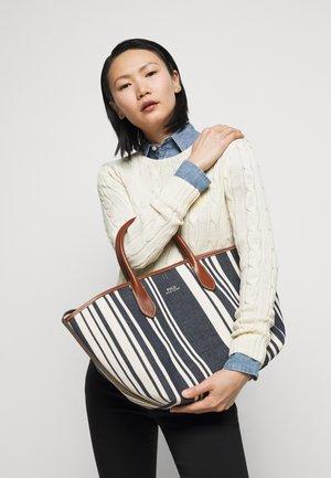 STRIPE OPEN TOTE - Handbag - blue multi
