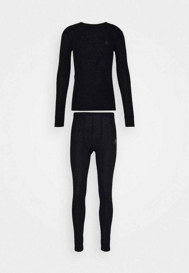 ODLO - LONG ACTIVE WARM SET - Dlouhé spodní prádlo - black