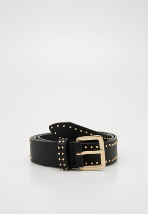PCRIKKE JEANS BELT KEY - Pásek - black/gold-coloured