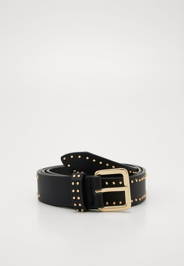 PCRIKKE JEANS BELT KEY - Cinturón - black/gold-coloured