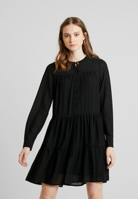 Vero Moda - VMCAITLIN SHORT DRESS - Day dress - black - 0