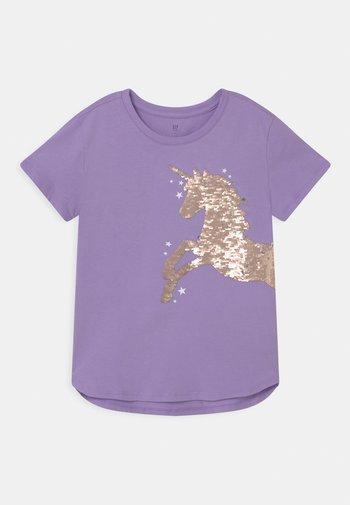 GIRL - Print T-shirt - lilac