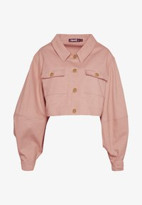 Missguided - BALLOON SLEEVE SHACKET - Denim jacket - blush - 4