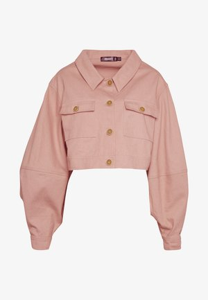 BALLOON SLEEVE SHACKET - Chaqueta vaquera - blush
