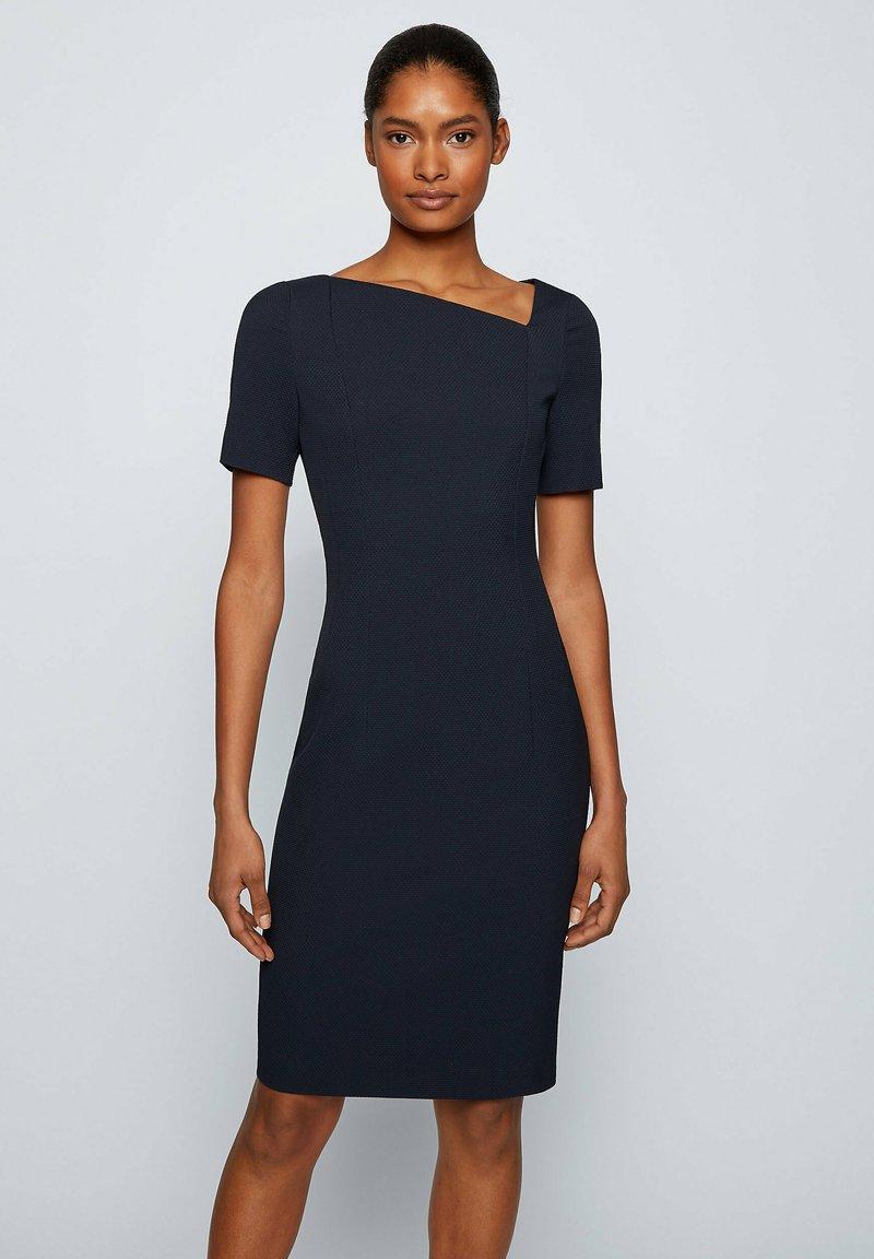 BOSS - DAKERA - Jersey dress - open blue