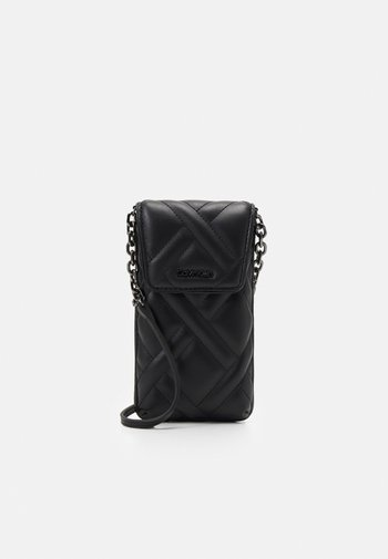 QUILT PHONE POUCH XBODY - Portacellulare - black
