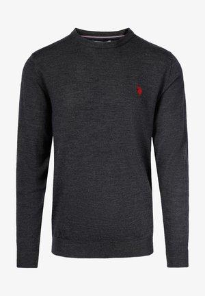 ARELI KNIT MERINO WOOL  - Sweatshirt - darkgreymel