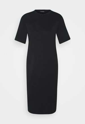 Basic midi Jerseykleid - Jersey dress - black