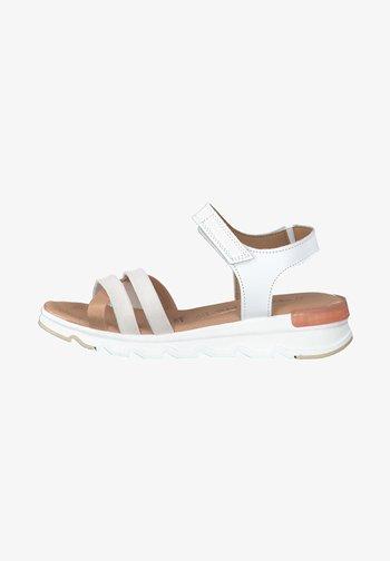 Platform sandals - white comb