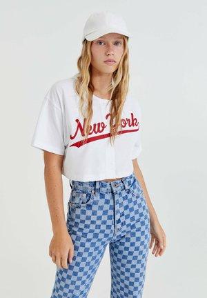 NEW YORK - Print T-shirt - white