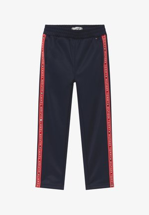 TAPE TRACKPANTS - Pantaloni sportivi - blue