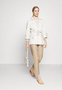 Ibana - MAE - Leather jacket - cream - 1