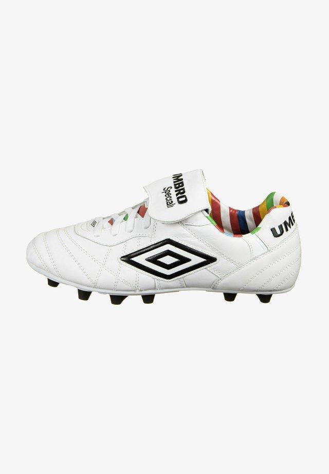 Fodboldstøvler m/ faste knobber - white multi