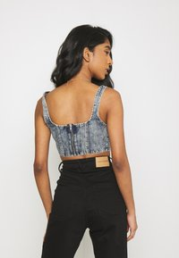 Missguided - CORSET - Top - blue - 2