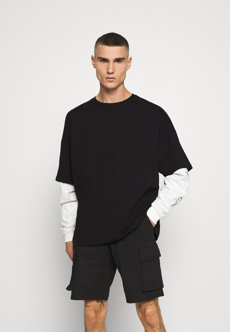 Mennace - LAYERED TEE - Longsleeve - black