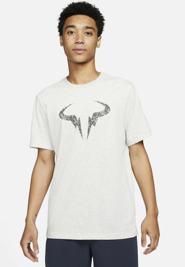 RAFA - Print T-shirt - grey heather/black