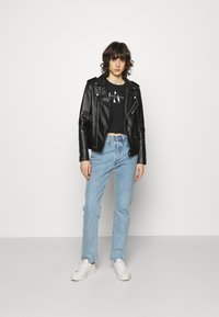 Calvin Klein Jeans - TONAL MONOGRAM TANK - Top - black - 1
