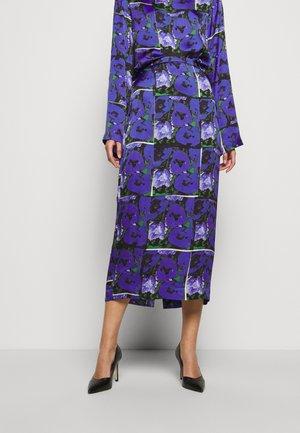 LEONA PRINT - Maxi sukně - blue