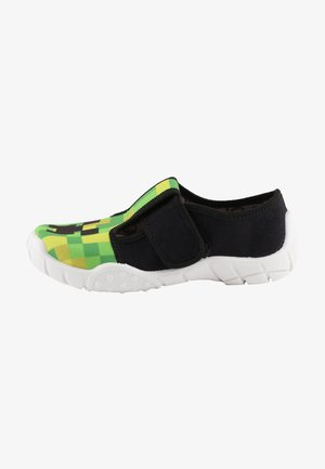 Klittenbandschoenen - white black green
