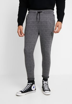 CHECKERED TROUSERS - Pantalones - grey
