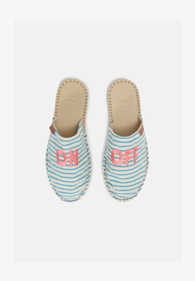 MULE FUN ECO UNISEX - Matalakantaiset pistokkaat - light blue