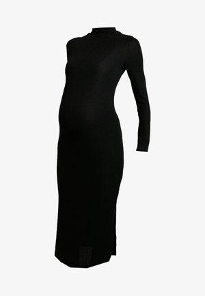 SPARKLE MAXI DRESS - Abito in maglia - black