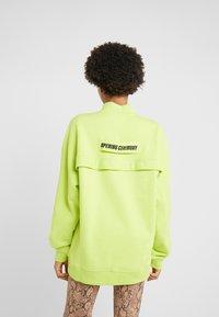 Opening Ceremony - UNISEX BACK ZIP - Sweatshirt - fluorescent yellow - 2