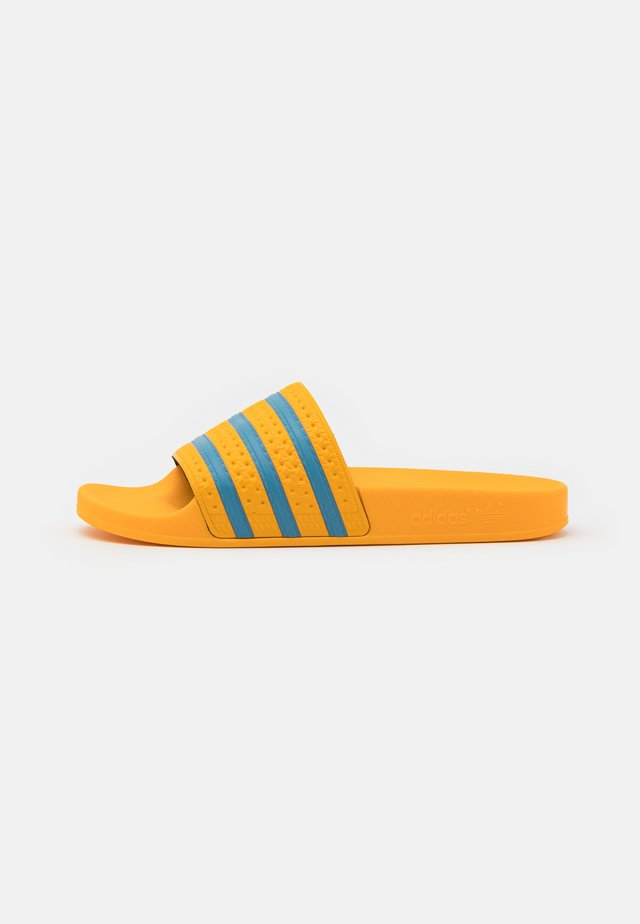 ADILETTE  - Mules - crew yellow/hazy blue/crew yellow