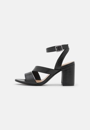 WIDE FIT BRITTANY - Sandals - black