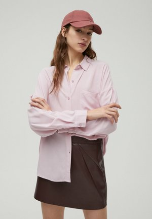 Button-down blouse - rose