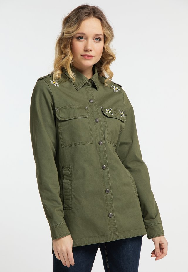 Korte jassen - military green