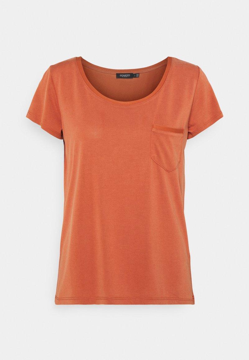 Soaked in Luxury - COLUMBINE  - Basic T-shirt - auburn