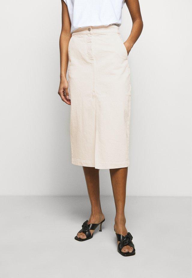 DEMI - Áčková sukně - ecru