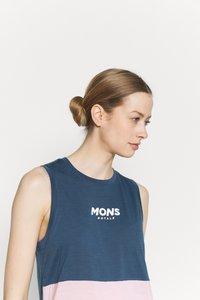 Mons Royale - TARN FREERIDE TANK - Top - dark denim/powder pink - 3