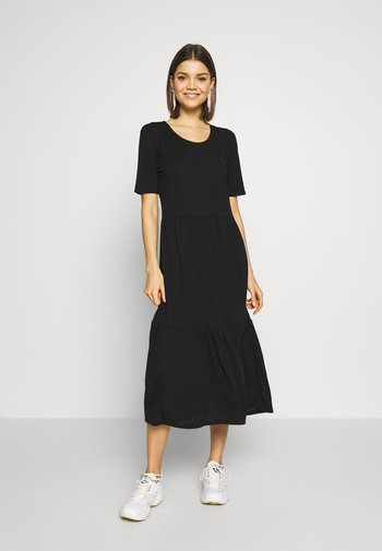 JDYDALILA FROSTY - Žerzejové šaty - black