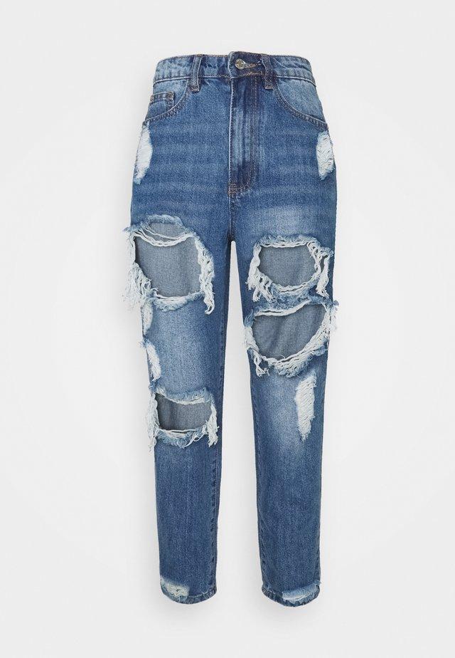 RIOT HIGH RISE - Straight leg -farkut - blue